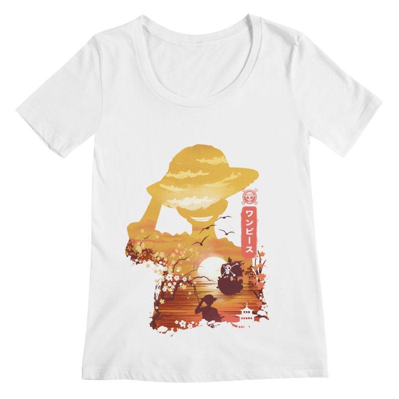 Ukiyo e King of the Pirates Women's Regular Scoop Neck by dandingeroz's Artist Shop