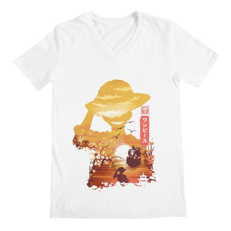 Ukiyo e King of the Pirates Men's Regular V-Neck by dandingeroz's Artist Shop