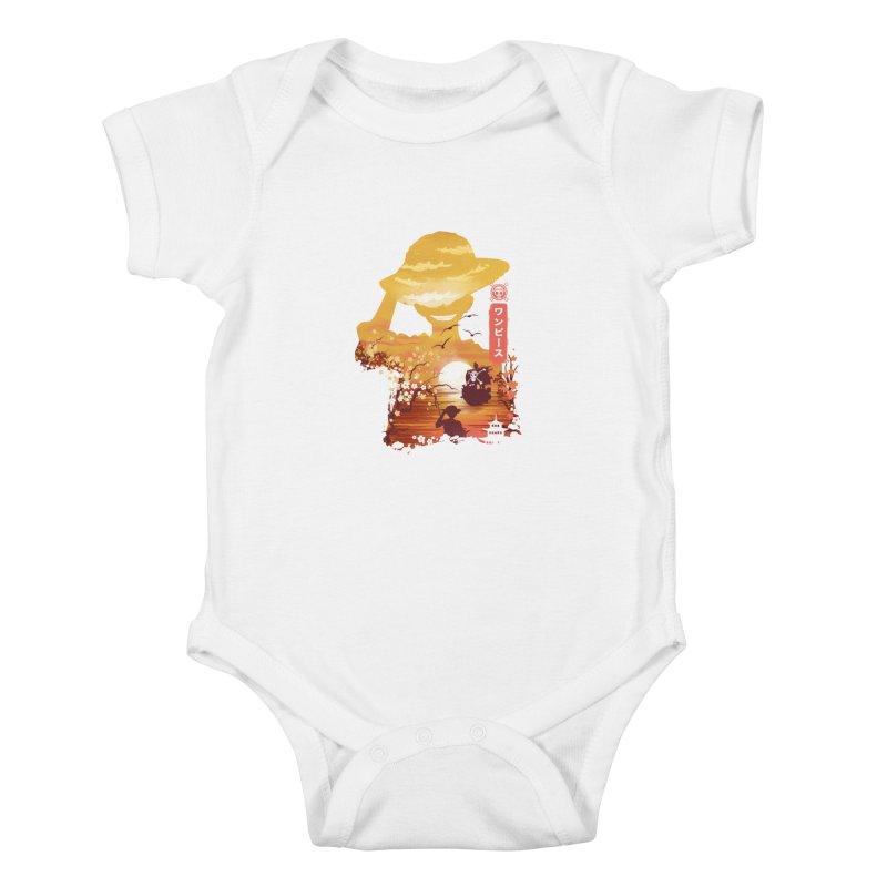 Ukiyo e King of the Pirates Kids Baby Bodysuit by dandingeroz's Artist Shop