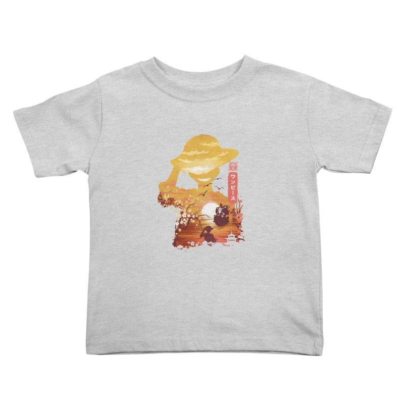 Ukiyo e King of the Pirates Kids Toddler T-Shirt by dandingeroz's Artist Shop