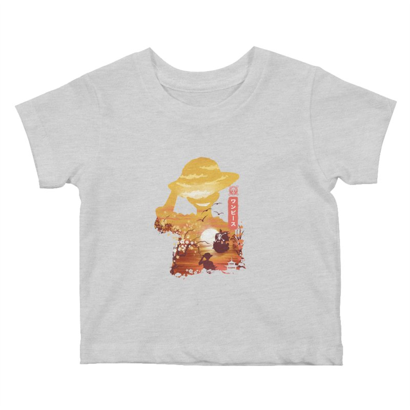 Ukiyo e King of the Pirates Kids Baby T-Shirt by dandingeroz's Artist Shop