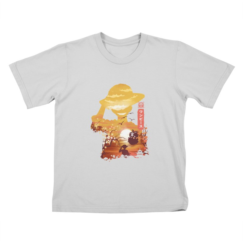 Ukiyo e King of the Pirates Kids T-Shirt by dandingeroz's Artist Shop