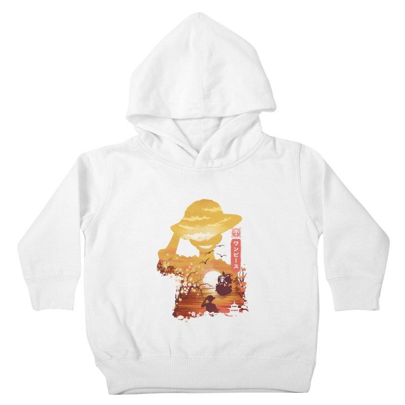Ukiyo e King of the Pirates Kids Toddler Pullover Hoody by dandingeroz's Artist Shop