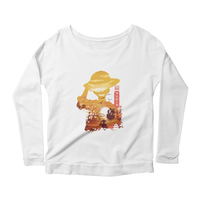 Ukiyo e King of the Pirates Women's Scoop Neck Longsleeve T-Shirt by dandingeroz's Artist Shop