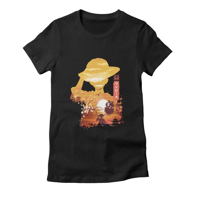 Ukiyo e King of the Pirates Women's Fitted T-Shirt by dandingeroz's Artist Shop