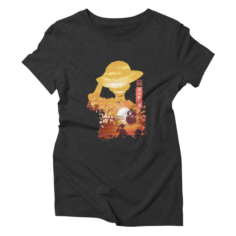 Ukiyo e King of the Pirates Women's Triblend T-Shirt by dandingeroz's Artist Shop