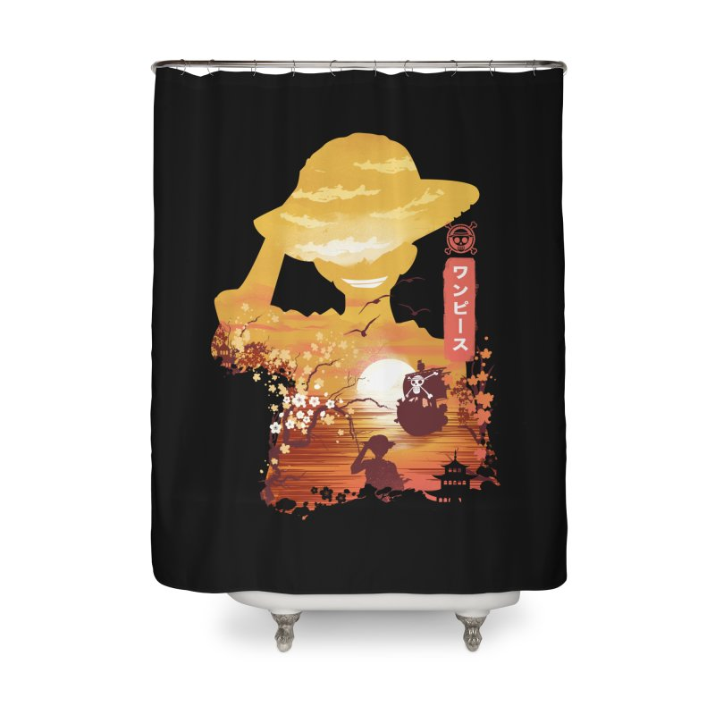 Ukiyo e King of the Pirates Home Shower Curtain by dandingeroz's Artist Shop