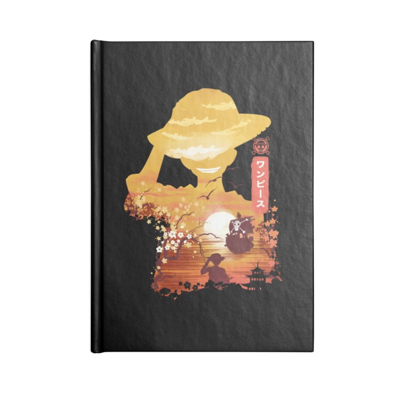 Ukiyo e King of the Pirates Accessories Lined Journal Notebook by dandingeroz's Artist Shop