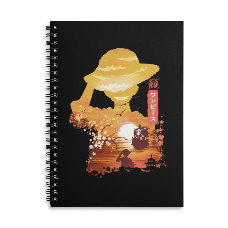 Ukiyo e King of the Pirates Accessories Lined Spiral Notebook by dandingeroz's Artist Shop