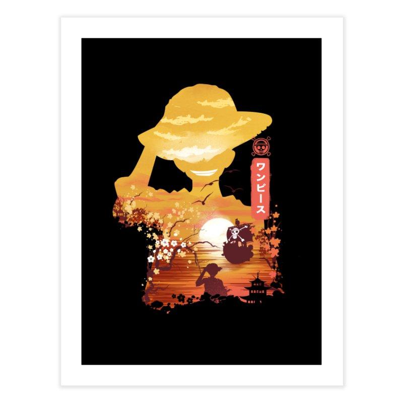 Ukiyo e King of the Pirates Home Fine Art Print by dandingeroz's Artist Shop