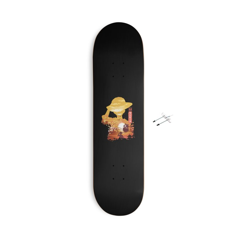 Ukiyo e King of the Pirates Accessories With Hanging Hardware Skateboard by dandingeroz's Artist Shop