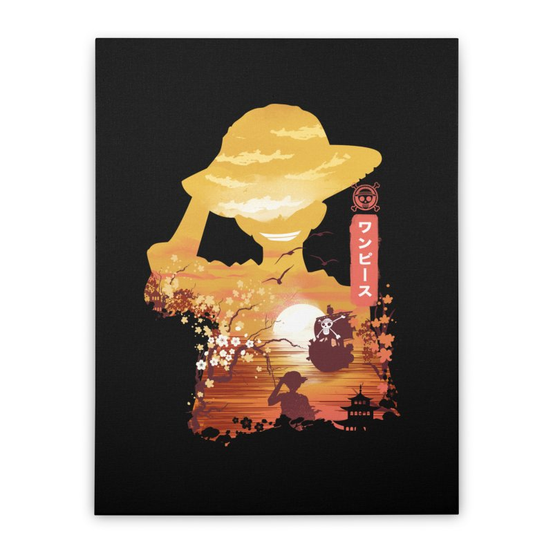 Ukiyo e King of the Pirates Home Stretched Canvas by dandingeroz's Artist Shop