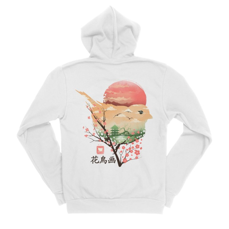 Japanese Bird Women's Sponge Fleece Zip-Up Hoody by dandingeroz's Artist Shop
