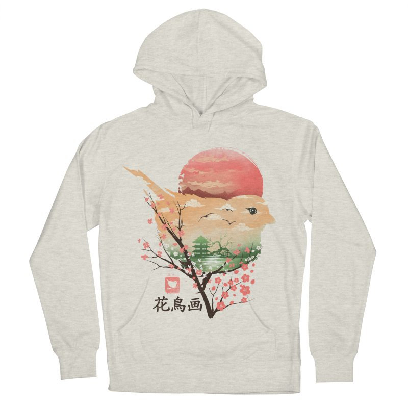 Japanese Bird Men's French Terry Pullover Hoody by dandingeroz's Artist Shop