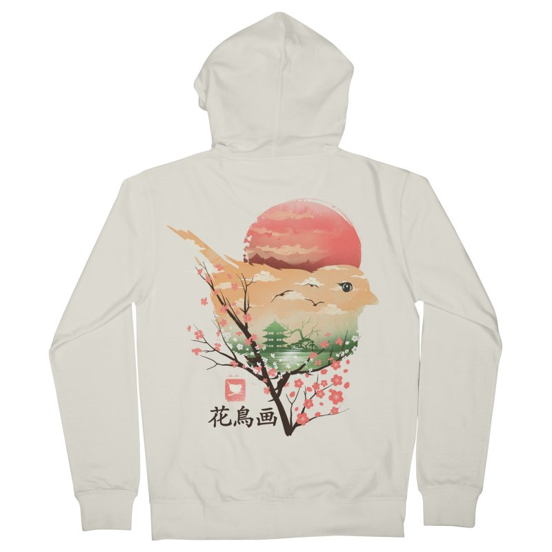 Japanese Bird Women's French Terry Zip-Up Hoody by dandingeroz's Artist Shop