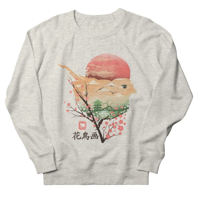 Japanese Bird Women's French Terry Sweatshirt by dandingeroz's Artist Shop
