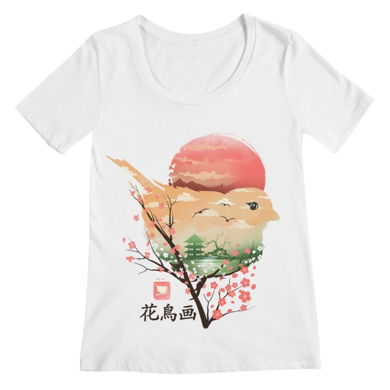 Japanese Bird Women's Regular Scoop Neck by dandingeroz's Artist Shop