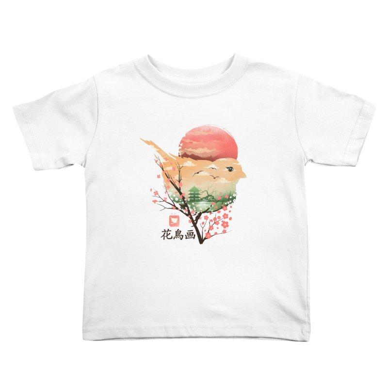 Japanese Bird Kids Toddler T-Shirt by dandingeroz's Artist Shop