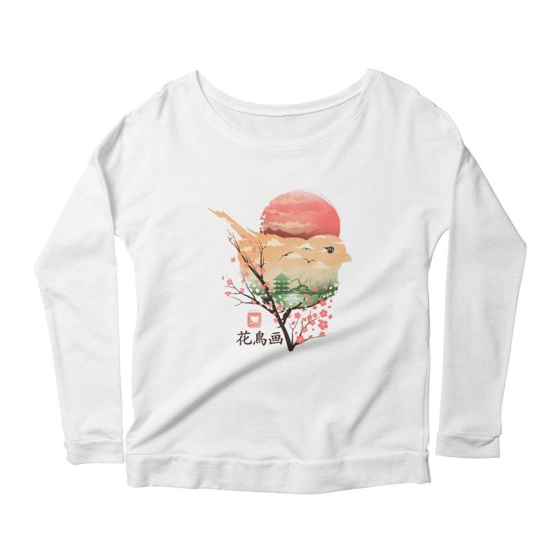 Japanese Bird Women's Scoop Neck Longsleeve T-Shirt by dandingeroz's Artist Shop