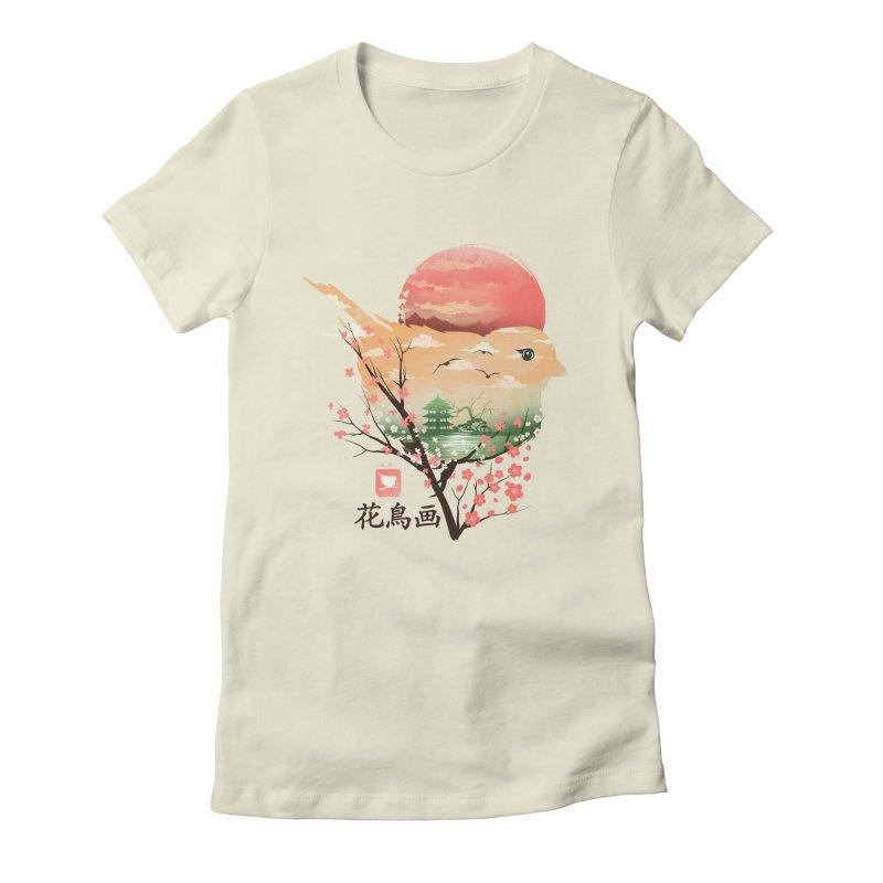 Japanese Bird Women's Fitted T-Shirt by dandingeroz's Artist Shop