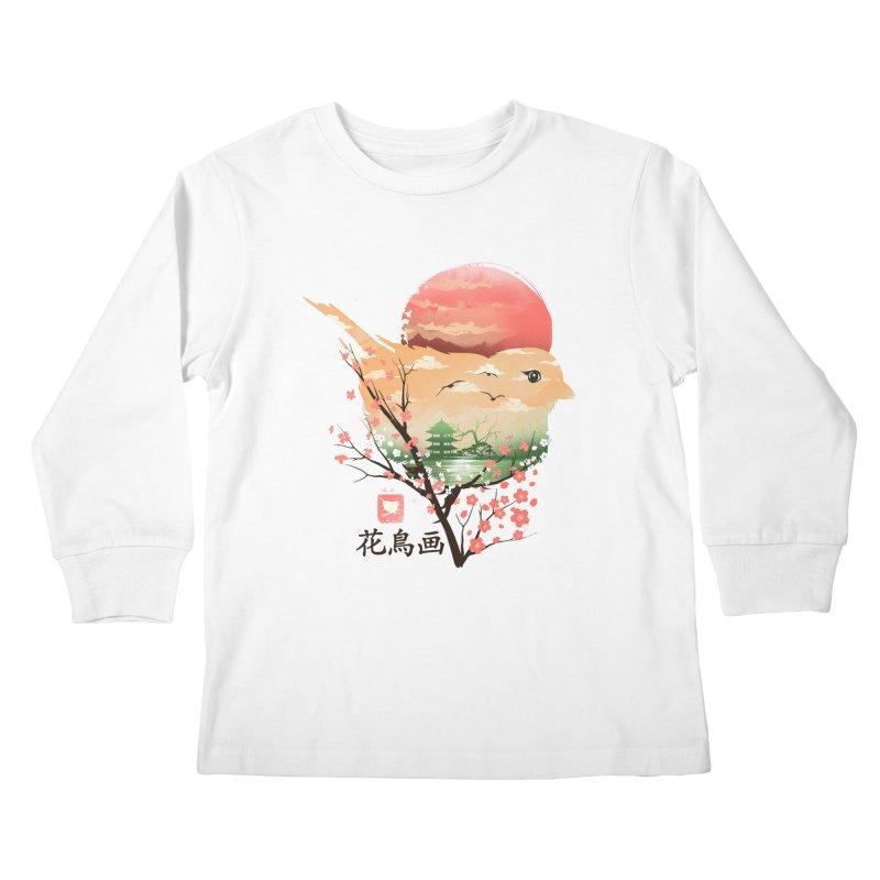Japanese Bird Kids Longsleeve T-Shirt by dandingeroz's Artist Shop
