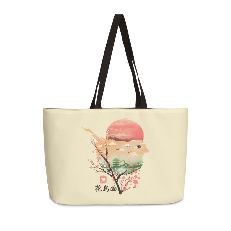 Japanese Bird Accessories Weekender Bag Bag by dandingeroz's Artist Shop