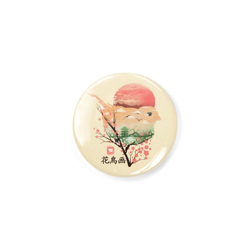 Japanese Bird Accessories Button by dandingeroz's Artist Shop