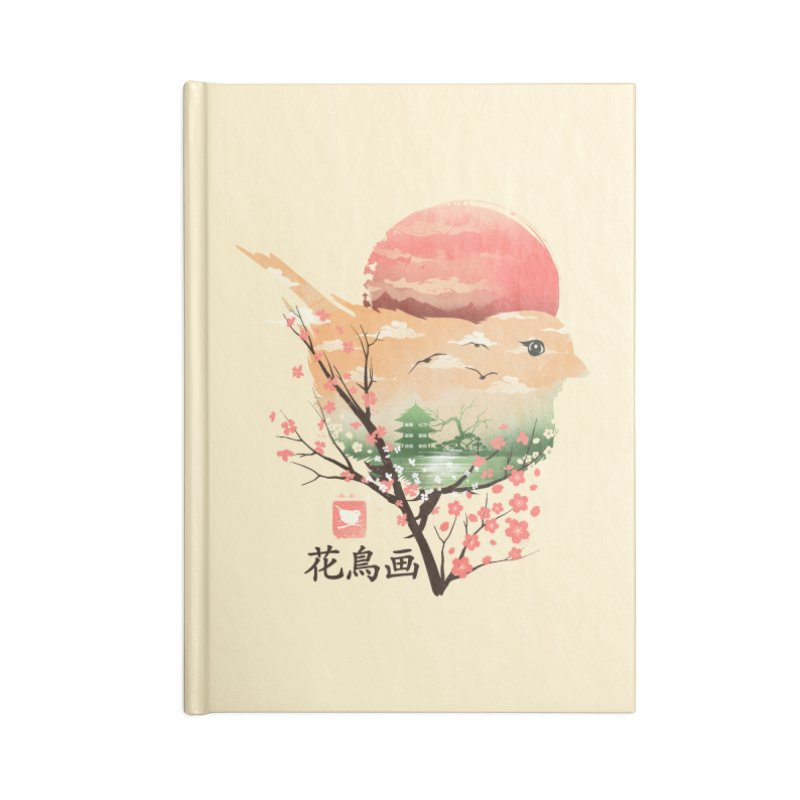 Japanese Bird Accessories Blank Journal Notebook by dandingeroz's Artist Shop