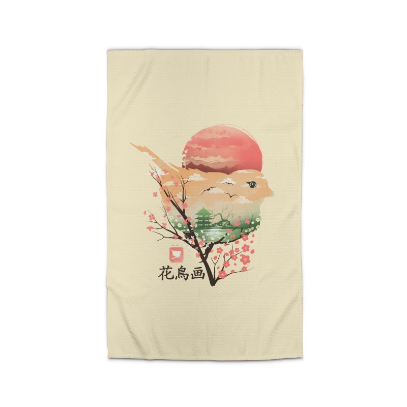 Japanese Bird Home Rug by dandingeroz's Artist Shop