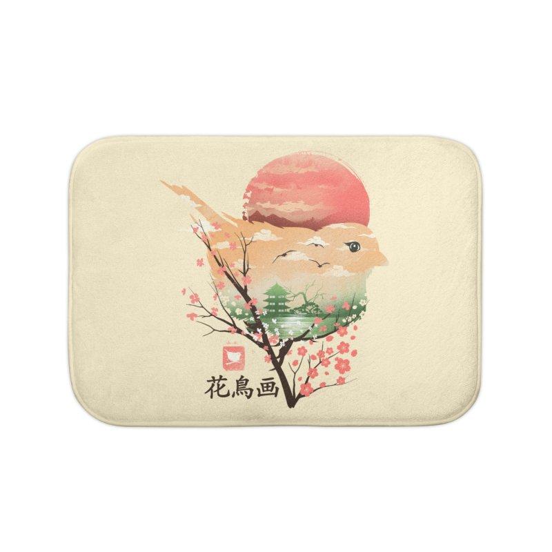 Japanese Bird Home Bath Mat by dandingeroz's Artist Shop