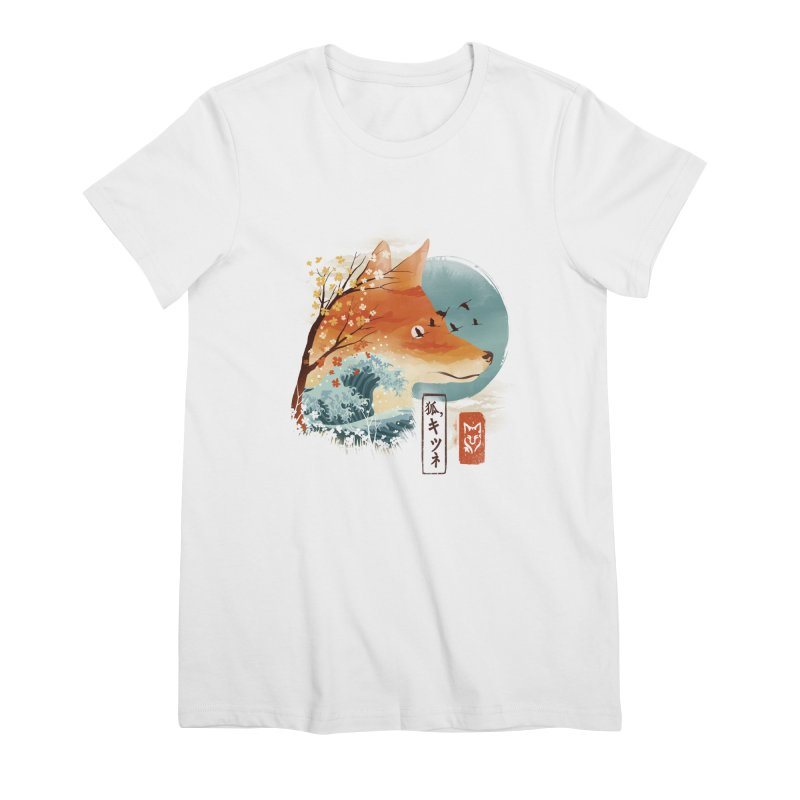 Japanese Fox Women's Premium T-Shirt by dandingeroz's Artist Shop