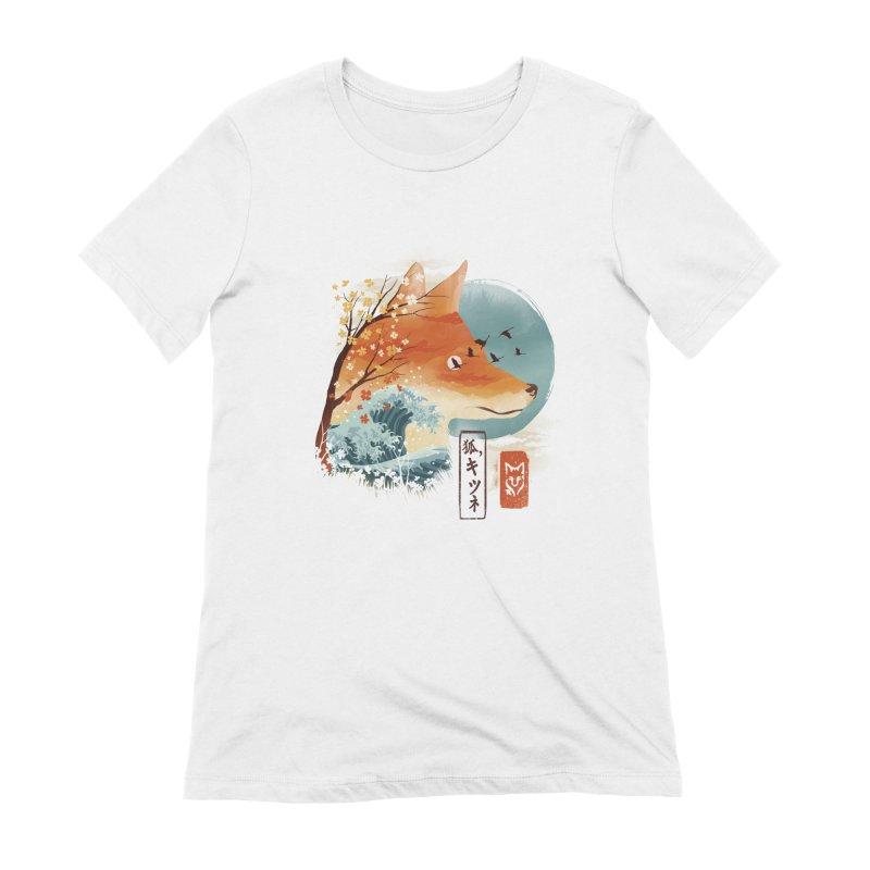 Japanese Fox Women's Extra Soft T-Shirt by dandingeroz's Artist Shop