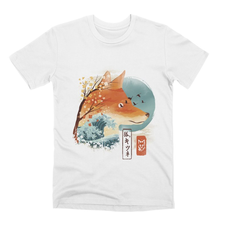 Japanese Fox Men's Premium T-Shirt by dandingeroz's Artist Shop