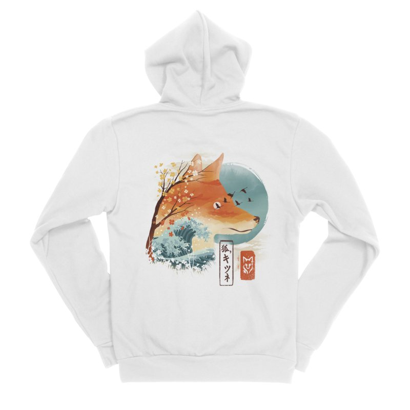 Japanese Fox Women's Sponge Fleece Zip-Up Hoody by dandingeroz's Artist Shop