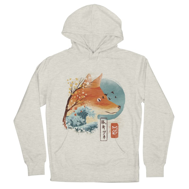 Japanese Fox Men's French Terry Pullover Hoody by dandingeroz's Artist Shop
