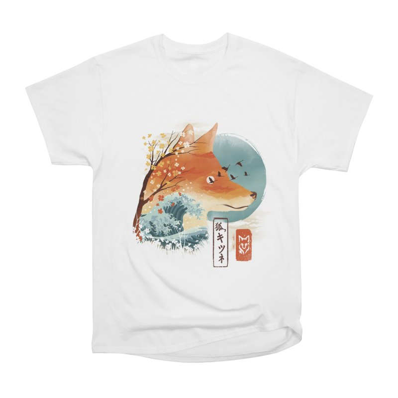 Japanese Fox Men's Heavyweight T-Shirt by dandingeroz's Artist Shop