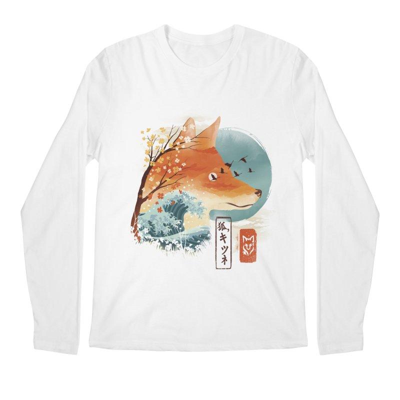 Japanese Fox Men's Regular Longsleeve T-Shirt by dandingeroz's Artist Shop