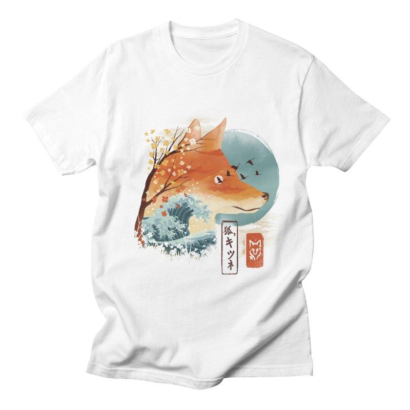 Japanese Fox Men's Regular T-Shirt by dandingeroz's Artist Shop