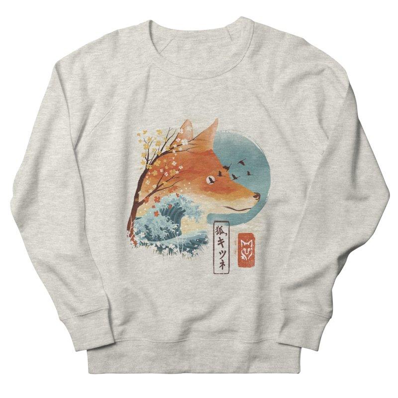 Japanese Fox Men's French Terry Sweatshirt by dandingeroz's Artist Shop