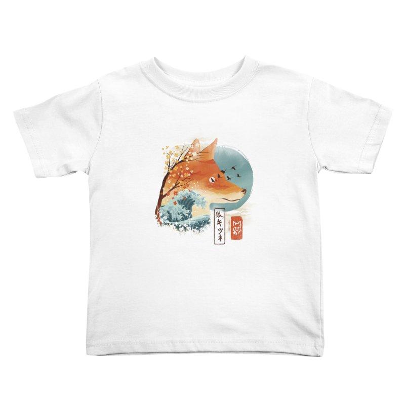Japanese Fox Kids Toddler T-Shirt by dandingeroz's Artist Shop
