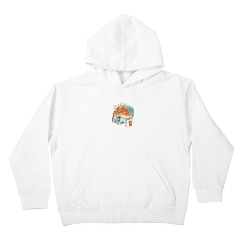 Japanese Fox Kids Pullover Hoody by dandingeroz's Artist Shop