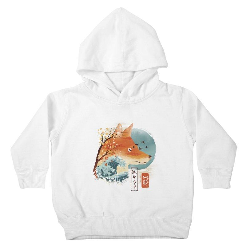 Japanese Fox Kids Toddler Pullover Hoody by dandingeroz's Artist Shop
