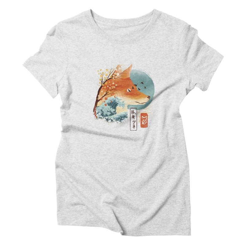 Japanese Fox Women's Triblend T-Shirt by dandingeroz's Artist Shop