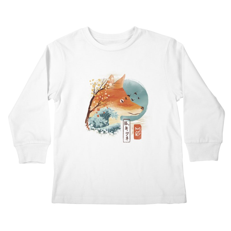 Japanese Fox Kids Longsleeve T-Shirt by dandingeroz's Artist Shop