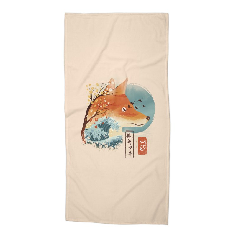 Japanese Fox Accessories Beach Towel by dandingeroz's Artist Shop