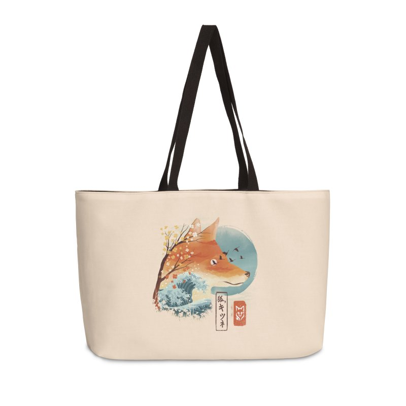 Japanese Fox Accessories Weekender Bag Bag by dandingeroz's Artist Shop