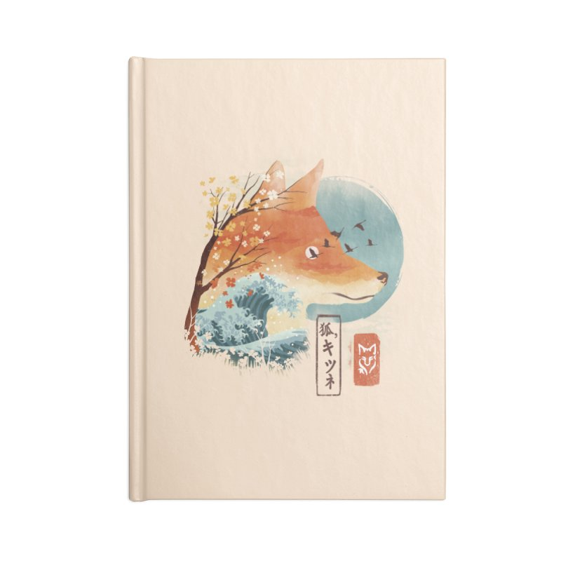 Japanese Fox Accessories Blank Journal Notebook by dandingeroz's Artist Shop