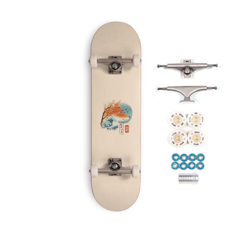 Japanese Fox Accessories Complete - Premium Skateboard by dandingeroz's Artist Shop