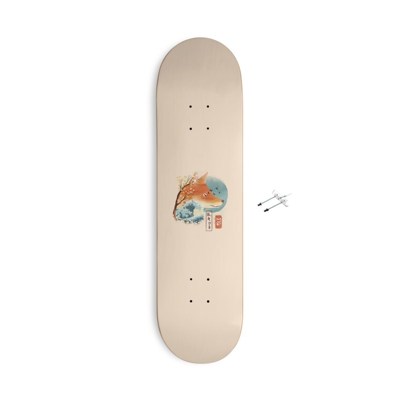 Japanese Fox Accessories With Hanging Hardware Skateboard by dandingeroz's Artist Shop