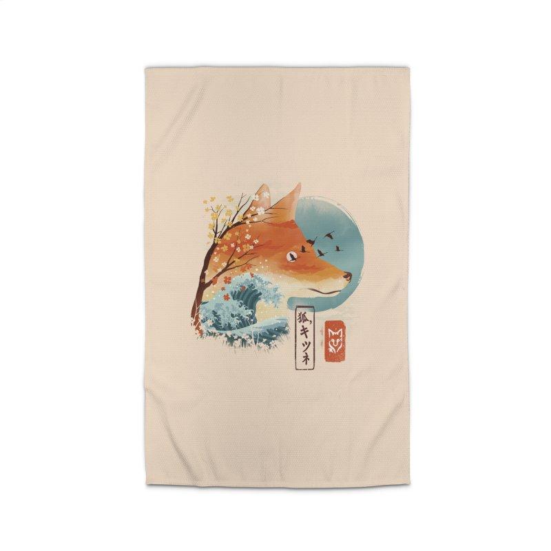 Japanese Fox Home Rug by dandingeroz's Artist Shop